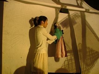女優と人形の共演