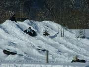 パワーアップした雪山の 4大ソリコース 「ワッハハハハ」と笑いが止まらない!最高面白いですよ♪