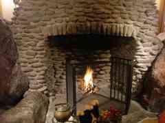 本当に薪に火が点いています
